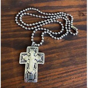 Jewelry - Long Silver Cross Necklace